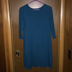 Old Navy 3/4 Sleeve Teal Green Dress